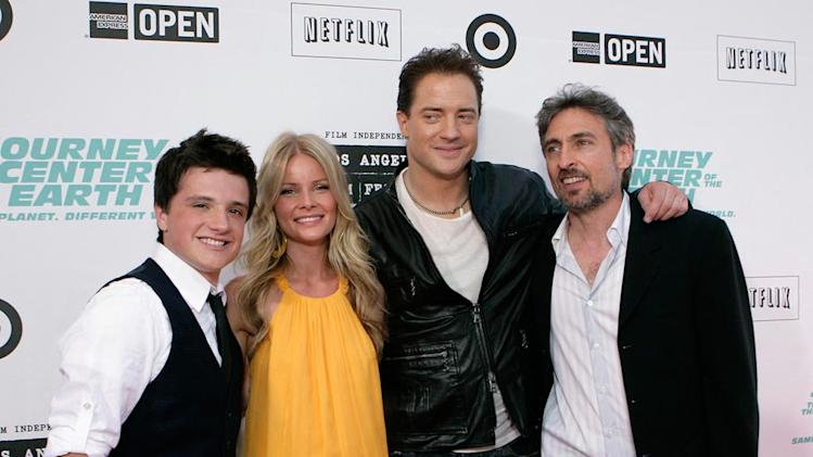 Journey to the Center of the Earth Premiere 2008 Anita Briem Josh Hutcherson Brendan Fraser Eric Brevig