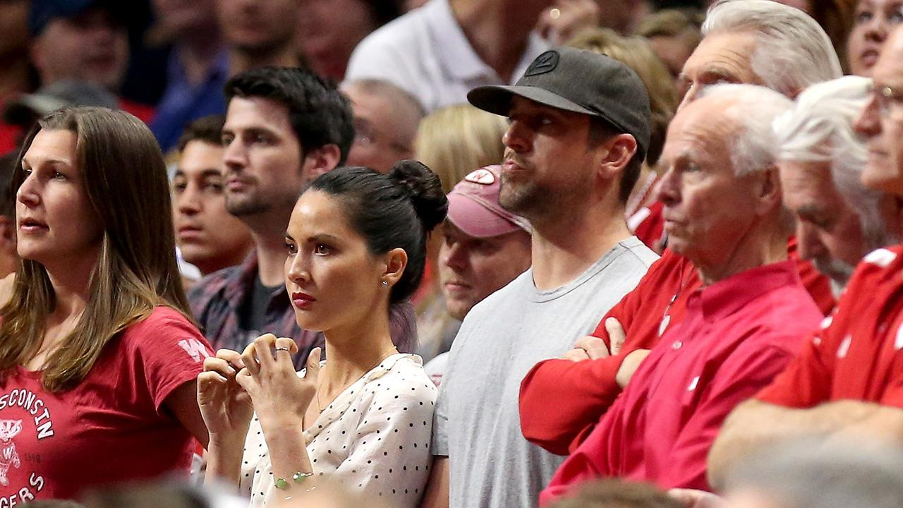 Aaron Rodgers brings new 'lucky charm' to support Wisconsin