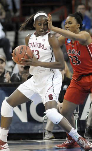 Georgia women rally to beat Stanford 61-59