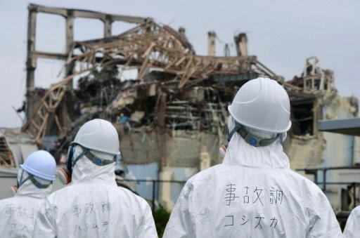 Members of a Japanese government panel investigate the accident at Fukushima