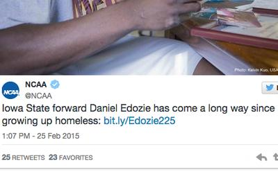 NCAA touts inspiring homeless athlete as other homeless athlete punished