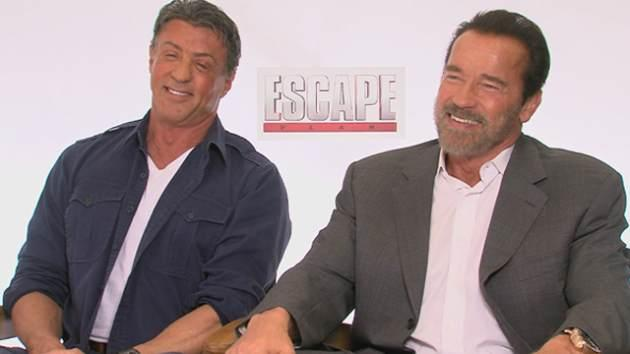 Sylvester Stallone and Arnold Schwarzenegger promote 'Escape Plan' -- Access Hollywood
