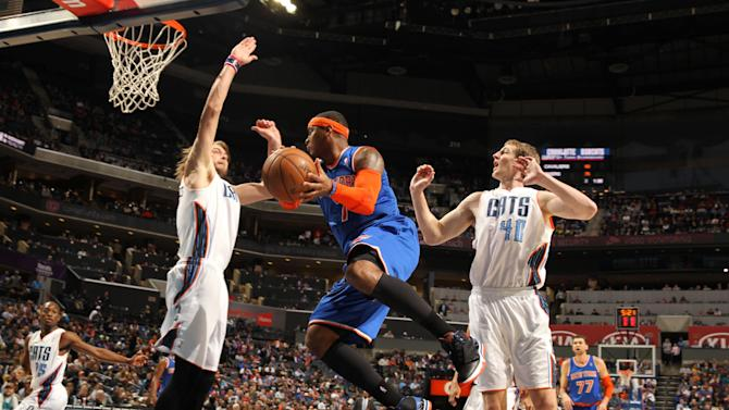 Anthony, Knicks beat Bobcats, spoil Ewing's debut