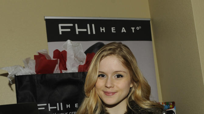 Actress Erin Moriarty visits FHI HEAT styling tools at the Fender Music lodge during the Sundance Film Festival on Saturday, Jan. 19, 2013, in Park City, Utah. (Photo by Jack Dempsey/Invision for Fender/AP Images)