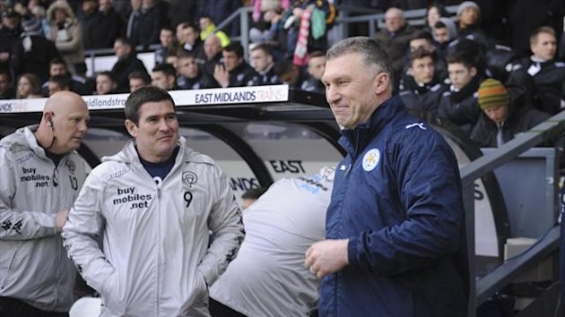 Nigel Pearson, right, insisted his Leicester side need to get back to basics