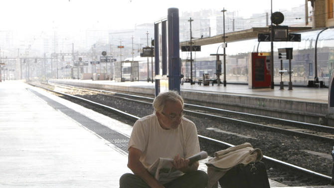 France hit by train strike after airport action