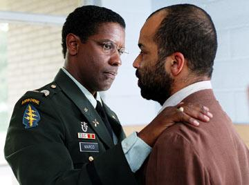 Denzel Washington and Jeffrey Wright in Paramount Pictures' The Manchurian Candidate