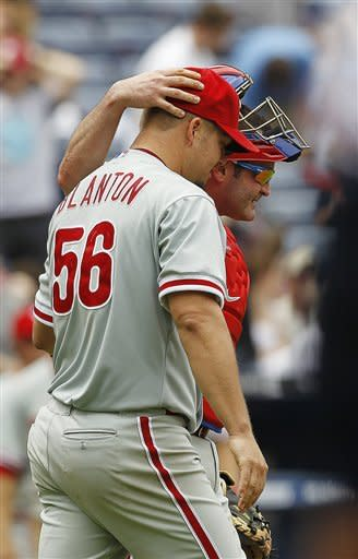 Blanton, Phillies shut out Braves, 4-0