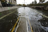 A flooded Brooklyn Battery Park Tunnel is pictured as New Yorkers clean up the morning after Sandy&#39;s landfall. The hammer blow dealt to New York by superstorm Sandy should raise the alarm for coastal mega-cities in Asia which are more exposed but less equipped to deal with such threats, experts said on Tuesday