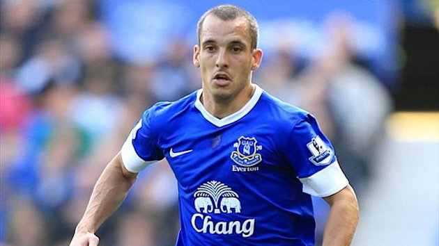 Everton's Leon Osman, September 2012