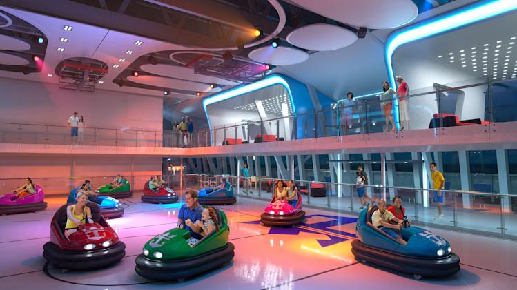 The Quantum of the Seas is the first cruise ship to offer bumper cars.