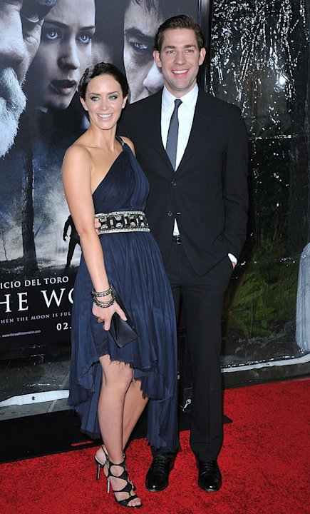 The Wolfman LA Premiere 2010 Emily Blunt John Krasinski