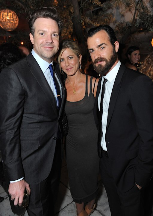 2011 MTV Movie Awards Backstage Jason Sudeikis Jennifer Aniston Justin Theroux