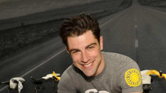 Max Greenfield Instructs Glamour Maqazine's SoulCycle Ride To Benefit Milk + Bookies