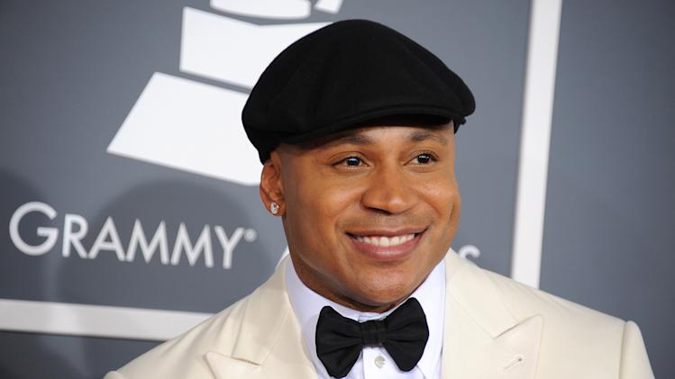 LL Cool J arrives at the 55th annual Grammy Awards on Sunday, Feb. 10, 2013, in Los Angeles.  (Photo by Jordan Strauss/Invision/AP)