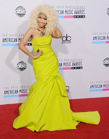 Nicki Minaj arrives at the 40th Anniversary American Music Awards at Nokia Theatre L.A. Live on November 18, 2012 in Los Angeles -- Getty Premium