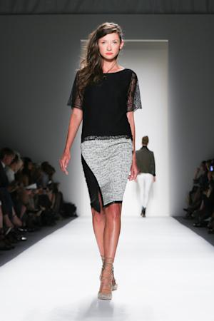 In this Thursday, Sept. 5, 2013, photo, fashion from the Marissa Webb Spring 2014 collection is modeled during Fashion Week in New York. (AP Photo/Marissa Webb)