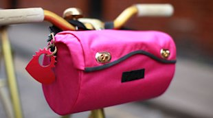 Pink handlebar bag