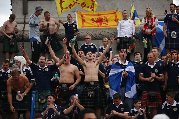England And Scotland Fans Arrive To Renew The Oldest Rivalry In Football