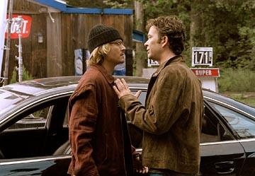 Johnny Depp and Timothy Hutton in Columbia's Secret Window
