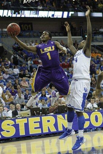 No. 1 Kentucky outlasts LSU 60-51 in SEC tourney