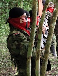 Members of the National Liberation Army (ELN) are shown August 13, 2012, in this Red Cross photo taken in Fortul, department of Arauca, Colombia. Founded four decades ago, the ELN has around 2,500 fighters and is active in northeastern Colombia