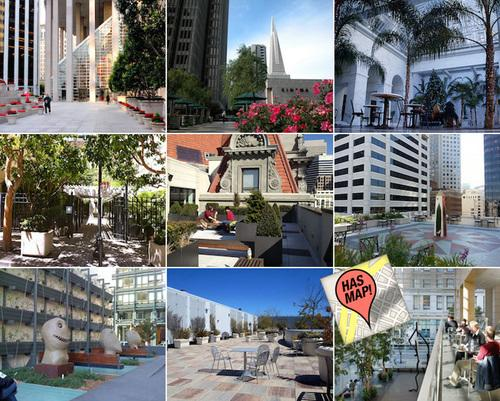 Open Secrets : Mapping 20 of SF's Best Privately Owned Public Open Spaces