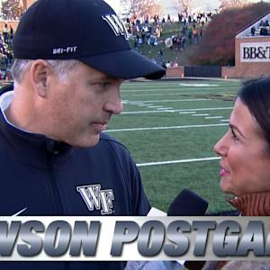 Wake Forest's Dave Clawson Elated Over First ACC Win