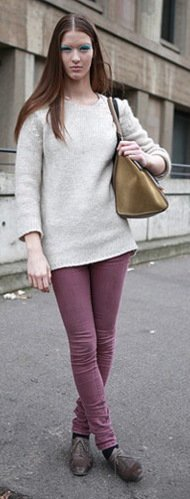 Top 13 Denim Trends For Fall 2012 Dusty Rose Hues