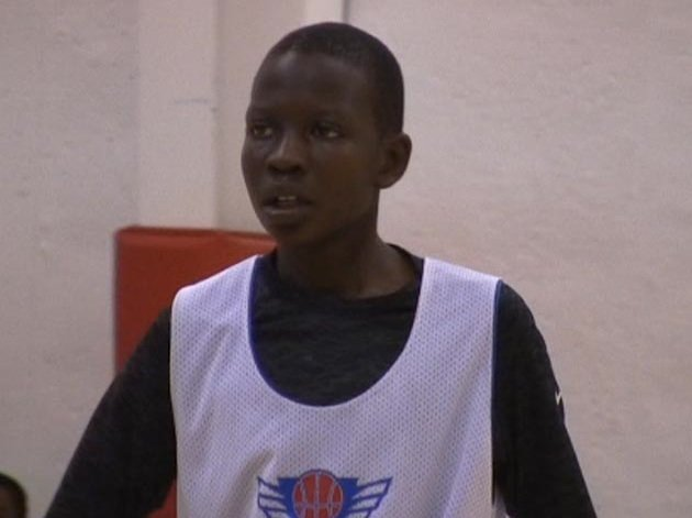 The late Manute Bol's seventh grade son, Bol Bol, who bears a similar resemblance in features and on-court play &#8212; Home Team Hoops screen grab