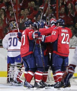 Capitals blow lead, beat Canadiens 3-2 in shootout