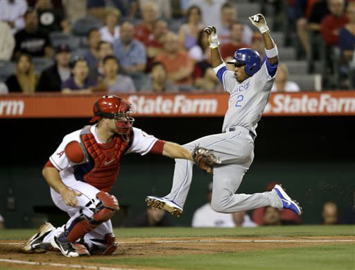 Angels hit 4 HRs off Guthrie, beat Royals 6-2