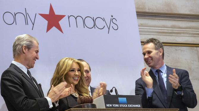 Mexican singer-songwriter Thalia rings the opening bell at the New York Stock Exchange