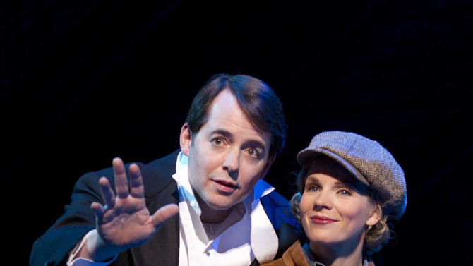 """In this publicity photo provided by Boneau/Bryan-Brown, Matthew Broderick, left, and Kelli O'Hara perform in the new musical comedy """"Nice Work If You Can Get It"""" at Broadway's Imperial Theatre in New York. (AP Photo/Boneau/Bryan-Brown, Joan Marcus)"""