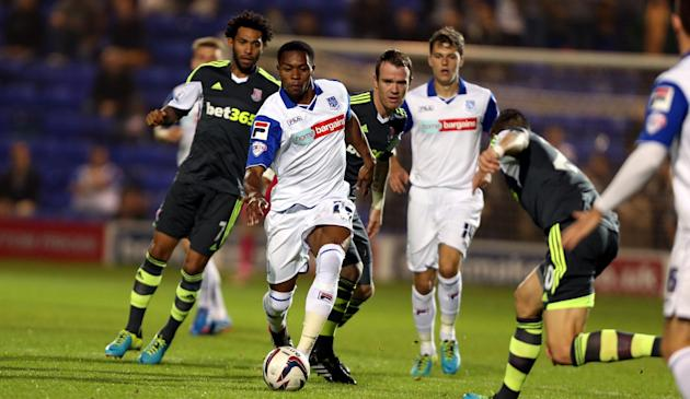 Soccer - Capital One Cup - Third Round - Tranmere Rovers v Stoke City - Prenton Park