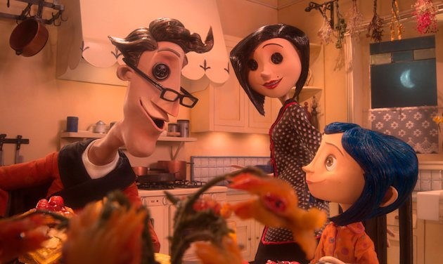 Coraline Production Stills 2009 Focus Features John Hodgman Teri Hatcher Dakota Fanning