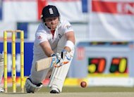 England's batsman Ian Bell plays a shot during the third day of the second Test match between Pakistan and England at the Sheikh Zayed Stadium in Abu Dhabi, January 2012. The England and Wales Cricket Board (ECB) revealed the itinerary for England's winter tour to India that will include four Tests, five one-day internationals and two Twenty20s