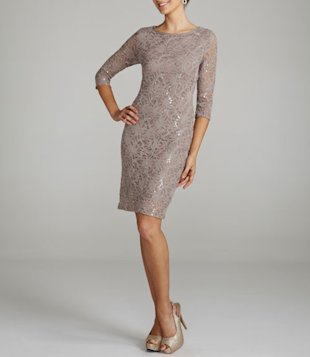 Short Long Sleeve Dress with Sequins