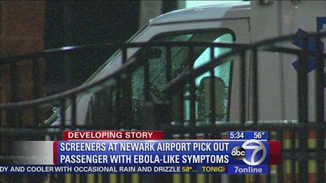 Passenger who arrived at Newark Airport being evaluated for Ebola