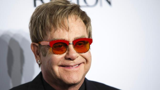 "File picture of Elton John at the Elton John AIDS Foundation's 12th Annual ""An Enduring Vision"" benefit gala in New York"