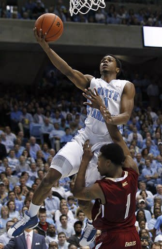 Barnes leads No. 3 UNC past BC 83-60 in ACC opener
