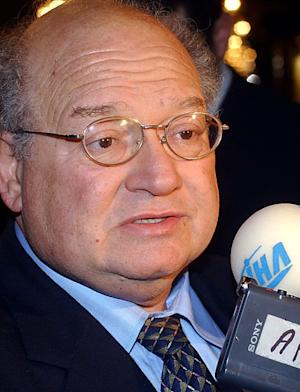 FILE- In this Nov. 9, 2004 file photo, Congressman Gary Ackerman, D-NY, speaks with the media after arriving in Damascus, Syria, for discussions with Syrian President Bashar Assad. The 15 term Democrat announced on Thursday, March 15, 2012, that he will not seek re-election. (AP Photo Bassem Tellawi, File)