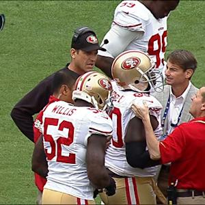 San Francisco 49ers defensive lineman Glenn Dorsey injured