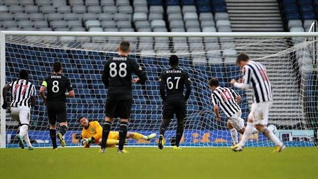 Paul McGowan nets St Mirren's second from the penalty spot