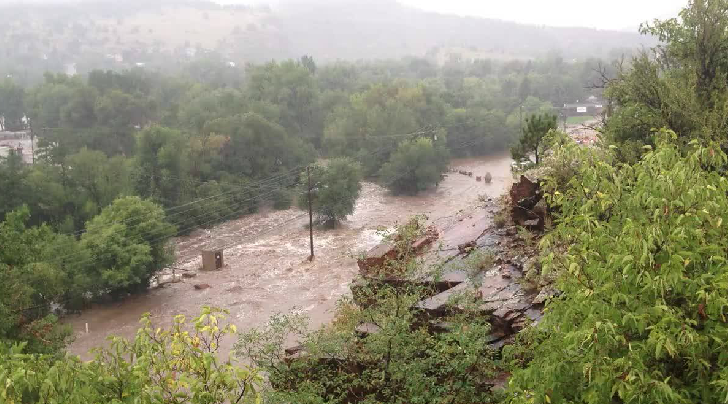 Lyons Highway 66 a raging river