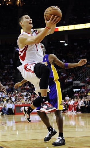 Douglas leads Rockets over Lakers 107-105