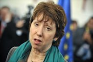 The European Union&#39;s foreign policy chief Catherine Ashton in 2011. Ashton has said she will travel to Myanmar on Saturday and open an EU office which would be the &quot;first step&quot; toward establishing a full delegation