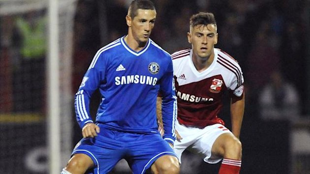 Fernando Torres in action for Chelsea v Swindon (AFP)