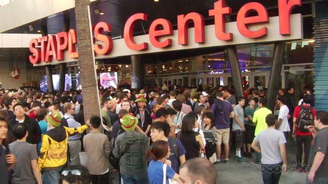 Outside Staples right before the League of Legend Worlds Finals