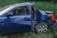 The crashed car of Cuban dissident Oswaldo Paya is shown in this image from the Interior Ministry released by Cuban TV. Cuban dissidents cast fresh doubt Sunday on the Communist government's explanation of the death of Paya, who died last week in a car crash